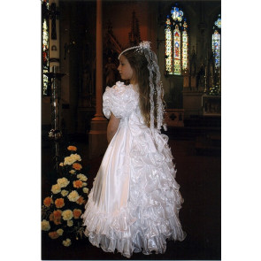 Little People 424 BOBBIE White Communion Dress