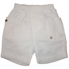 La Petite Ourse 23897 White Linen Shorts