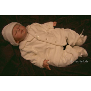 Emile et Rose 24003 9388 Ivory Velour Jacket Top and Trouser Outfit