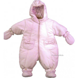 Emile et Rose 24009 1320 Pink Snowsuit Bootees and Mittens