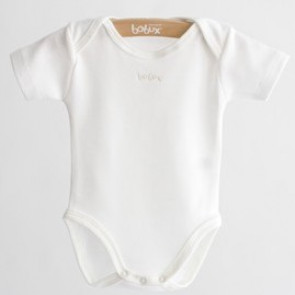 Bobux B0350 Vanilla  Merino and Cotton Short Sleeve Body Suit Vest