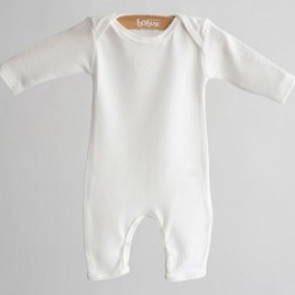 Bobux B0345 Vanilla  Merino and Cotton Onesie Long Johns Union Suit