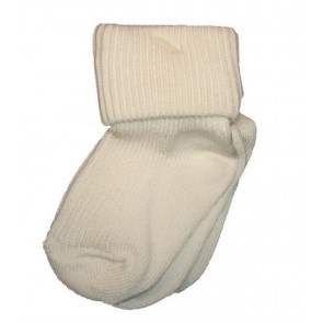 Pex ROMAi Two Pair Plain Ivory Turnover Top Socks