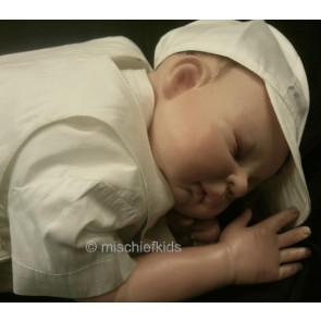 Sarah Louise 002208 Silk Shirt Dungaree & Hat Set - LESS THAN HALF PRICE