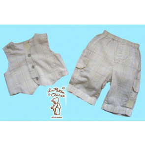 La Petite Ourse 25507 Waistcoat and Trouser Set