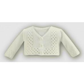 Sarah Louise 697 Ivory Unisex Soft Knit Cardigan