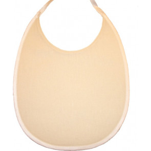Fairytales BL01c Fairytales Plain Cream Linen Bib