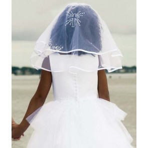 Sarah Louise 055002 White Cross Communion Veil