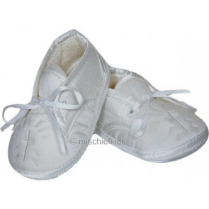 Sarah Louise 403 Holy Cross Pram Shoe WHITE