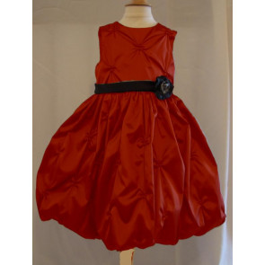 Sarah Louise 7209r Red and Black Puffball Dress