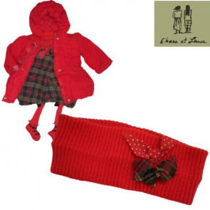 Eliane et Lena 26081 Red Bow Headband ONE SIZE