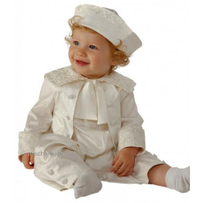 Little Darlings A1772 Montgomery Fontleroy Christening Romper