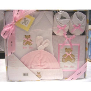NEWBORN 25951p Pink 4 Piece Photo Album Box Set