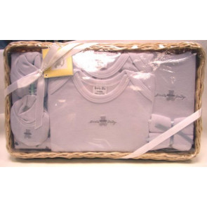 NEWBORN 25953w White 7 Piece Basket Gift Set