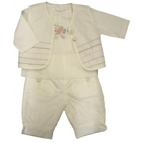La Petite Ourse 26247  Newborn Sample Vanilla Trousers GARDEN