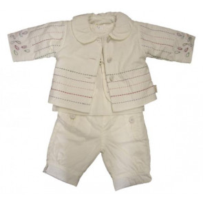 La Petite Ourse 26248  Newborn Sample Vanilla Jacket GARDEN