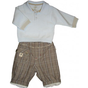 La Petite Ourse 26303  Newborn Sample Check Trouser TRAVELLER