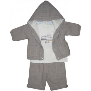 La Petite Ourse 26316 Newborn Sample  Grey Trousers MECHANIC