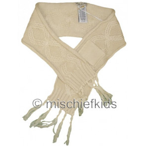 Eliane et Lena 26776 Sample Cream Knit Scarf GOLDEN