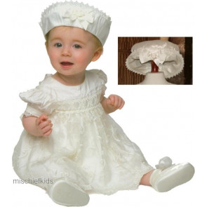 Little Darlings BS9008 Chloe Silk Christening Bloomer Set IVORY