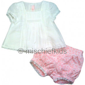 Mayoral 27249 Baby Top n Floral Bloomers