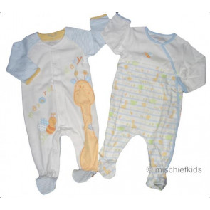 Mayoral 27259 Baby Twin Blue Onesie Gift Set