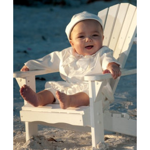Sarah Louise 002214 Buster Suit & Hat & Jacket Set WHITE