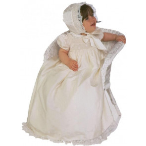Little Darlings G9011 Belle Pure Silk Christening Gown & Romper
