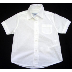 Mayoral 27302 Boy White Short Sleeve Shirt