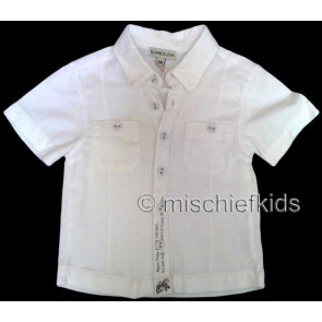 Eliane et Lena 27704 Boys Sample White Short Sleeve Shirt BROUSSE