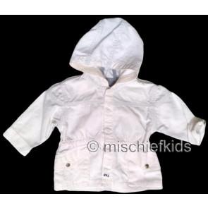 Eliane et Lena 27711 Boys Sample White Hooded Jacket BROUSSE