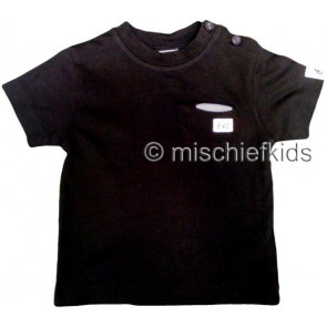 Eliane et Lena 27713 Boys Sample Black Cotton Tee HINDY GO