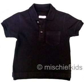 Eliane et Lena 27716 Boys Sample Black Polo Shirt HINDY GO
