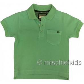 Eliane et Lena 27717 Boys Sample Green Polo Shirt HINDY GO