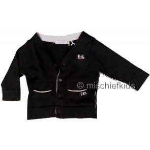 Eliane et Lena 27723 Boys Sample Black Knit Cardigan HINDY GO