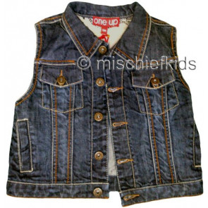 Eliane et Lena 27744 One Up Sample Blue Denim Waistcoat SCRAPMETAL