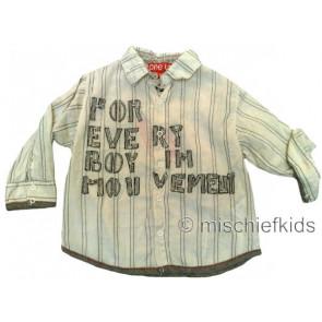 Eliane et Lena 27753 One Up Sample Beige Stripe Shirt MR CORTO