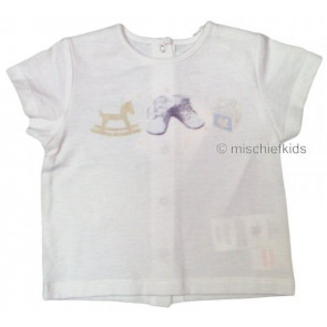 La Petite Ourse 27501 Sample  White Toy Tee GARCON