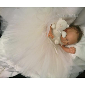 Kate Mack KM330w Precious Heirloom White Tulle Dress