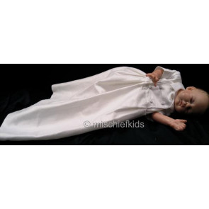 Kate Mack MACK G Cherished Heirloom Boys White Silk Christening Gown and Bonnet