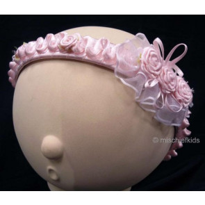 OCCASIONS A301p Pink Roses Headband