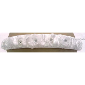 OCCASIONS A301w White Diamante Roses Headband