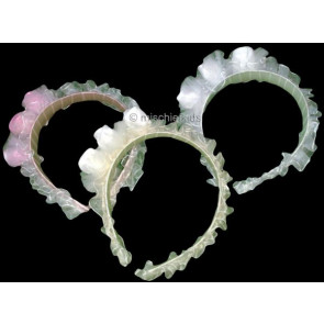 OCCASIONS A302w White Voile Pearl Headband