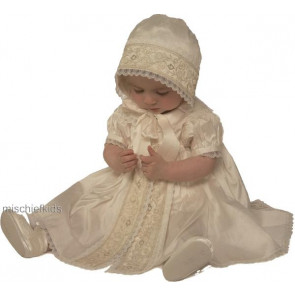 Little Darlings BS2633 Trinity Christening Romper Dress Set