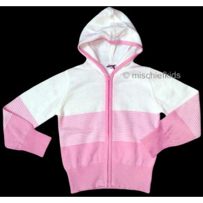 Mayoral 28541 Girls 2yr Sample Stripe Knit Hooded Cardigan