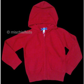 Mayoral 28578 Girls 2yr Sample Red Knit Hooded Cardigan