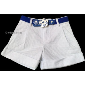 Mayoral 28618 Girls 2yr Sample White Shorts and Blue Belt