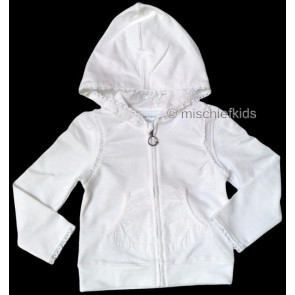 Mayoral 28628 Girls 2yr Sample White Hooded Zip Cardigan
