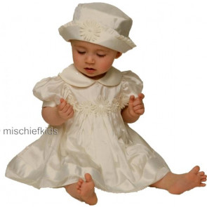 Little Darlings BS4236 Daisy Silk Christening Dress Set