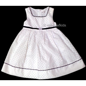 Mayoral 28637 Girls 2yr Sample White Spot Dress